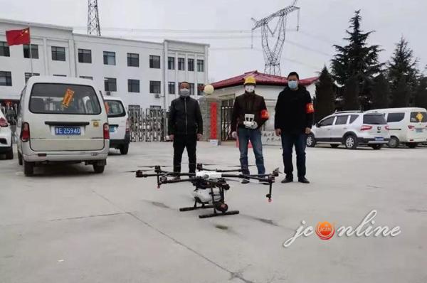 """""""硬核!晋城这个小山村用无人机消毒"""