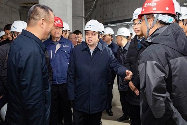 刘锋深入部分城建重点工程现场进行调研
