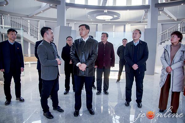 武健鹏调研我市商务系统重点项目建设工作