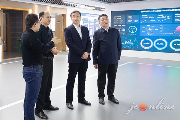 武健鹏在市大数据应用局调研