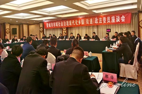我市召开市域社会治理现代化乡镇(街道)政法委员座谈会