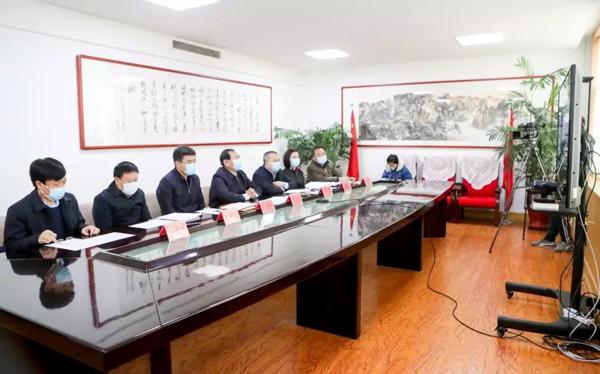 张志川、刘锋视频连线慰问晋城赴湖北医疗救援队