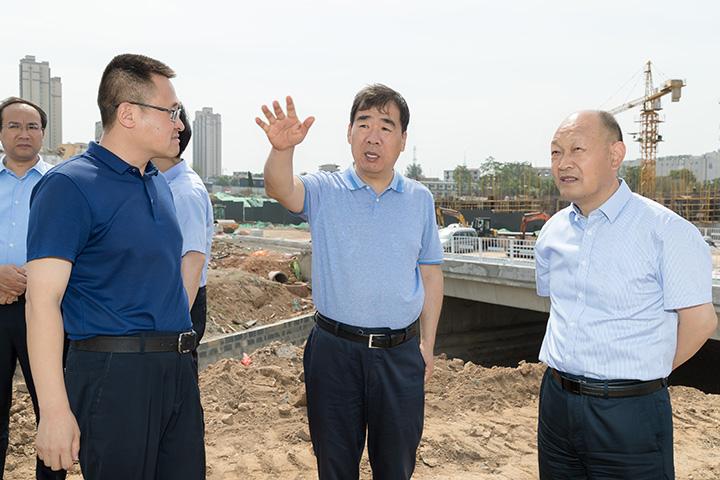 王震调研中心城市河流水系治理工作