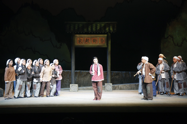 上党梆子《申纪兰》在晋城市歌舞剧院琚颐睦剧场举行公演